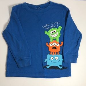 Here Comes Trouble Monster Long Sleeved Shirt 4T